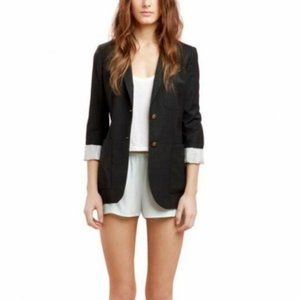 Aritzia Talula Black Fitted Wool Exeter Blazer 00